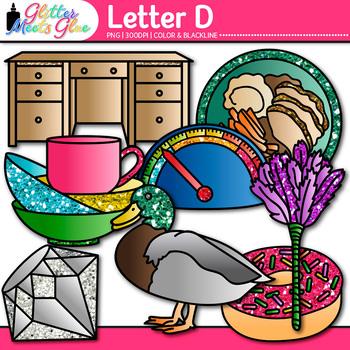 Letter D Alphabet Clip Art {Teach Phonics, Recognition, an