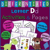 Letter D Unit - - Differentiated Letter Writing Pages and