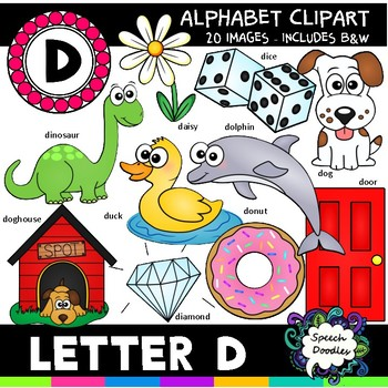 Letter D Clipart - 20 images! Personal or Commercial use