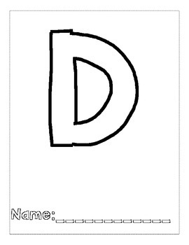 Letter D Color and Trace AlphaBook