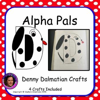 Letter D Craft: Denny Dalmatian Alpha Pal