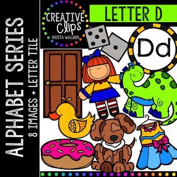 Letter D {Creative Clips Digital Clipart}