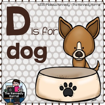 Letter D is for Dog