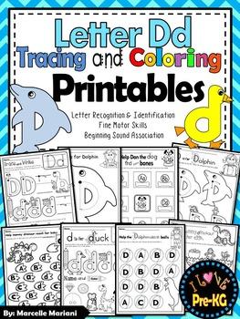 Pre-KG Alphabet Worksheets- LETTER Dd Printables- Tracing,