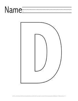 Letter 'D' Pre-K Packet
