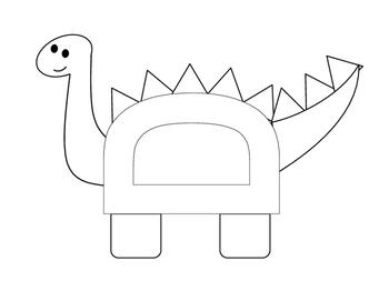Letter D is for dinosaur craft