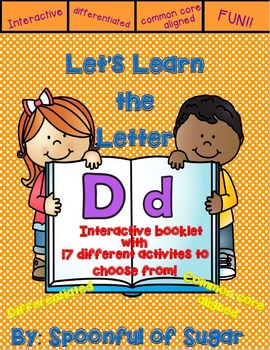 Letter Dd- Interactive Activities Booklet
