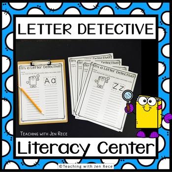 Write the Room: Letter Detective {26 letter worksheets - g