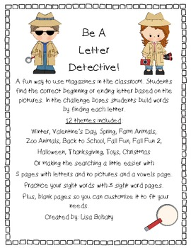 Letter Detective; using magazines to learn!