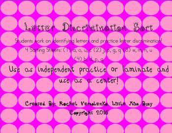 Letter Discrimination Sort