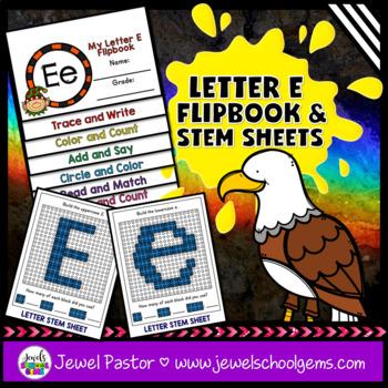 Letter E Alphabet Interactive Notebook Activities Flipbook