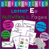Letter E Unit - Differentiated Letter Writing Pages & Activities
