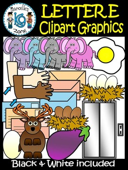 Letter E- Clipart Graphics- Commercial & Personal Use