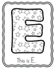 Letter E Recognition, Sound, Tracing and Craftivities