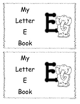 Letter E Little Reader/Book