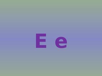 Letter E PowerPoint Presentation