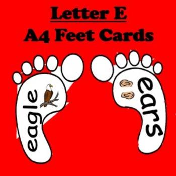 Letter E cards