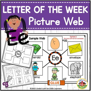 Letter Ee Beginning Sound Picture Web Activity