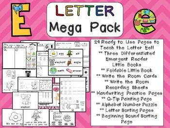 Letter Ee Mega Pack- Kindergarten Alphabet- Handwriting, L