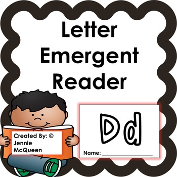 Letter Emergent Reader:Dd-PRINT AND GO!