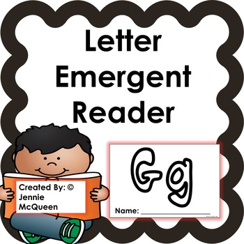 Letter Emergent Reader: Gg - PRINT AND GO!
