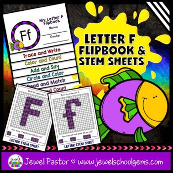 Letter F Alphabet Interactive Notebook Activities Flipbook