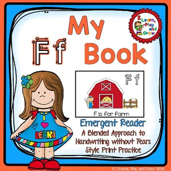 Letter F Books for learning letters, rhymes, handwriting,