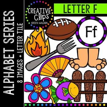 Letter F {Creative Clips Digital Clipart}
