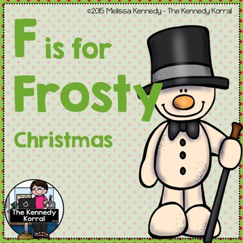 Letter F is for Frosty {Christmas}