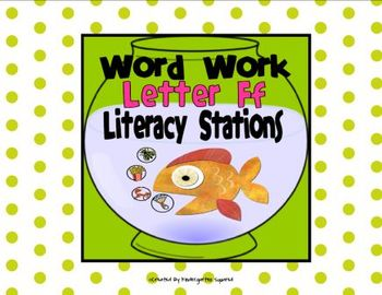 Letter F Word Work Literacy Stations and Centers