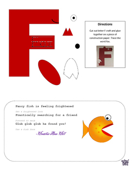 Letter F cutout craft