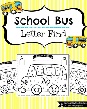 Letter Find - School Bus Theme