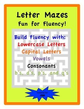 Letter Fluency Mazes Vowels/ Consonants/ Capitals/ Lowerca