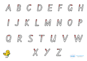 Letter Formation Alphabet Handwriting Sheet Uppercase