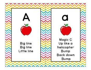 Letter Formation Cards for Handwriting Without Tears - Rai