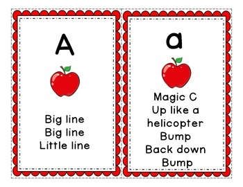 Letter Formation Cards for Handwriting Without Tears - Scalloped