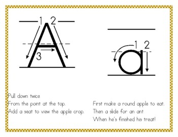 Letter Formation (Handwriting) Rhymes