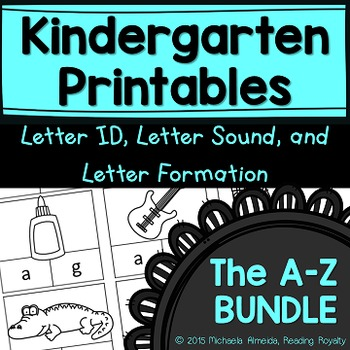 Letter Formation, Letter ID, and Letter Sound Printables B