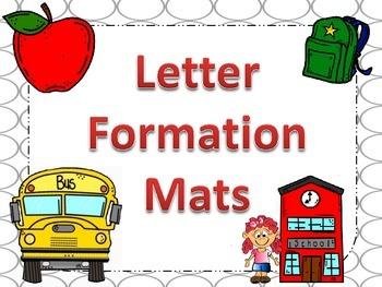 Letter Formation Mats
