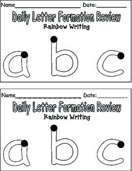 Letter Formation Review