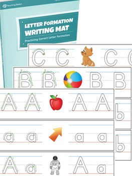 Letter Formation Writing Mat Activity Set {COLOR+BW}