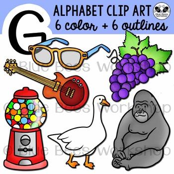 Letter G Clip Art Alphabet / Beginning Sound G