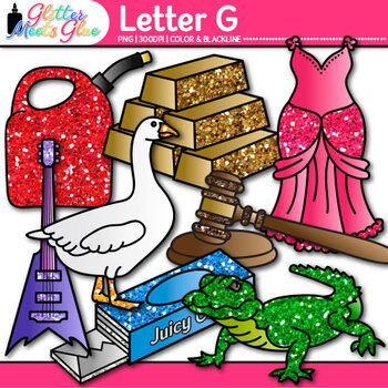 Letter G Alphabet Clip Art {Teach Phonics, Recognition, an