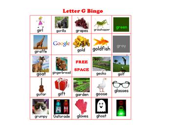 Letter G Bingo