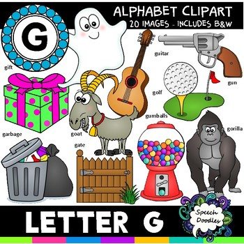Letter G Clipart - 20 images! Personal or Commercial use