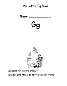 Letter G Emergent Reader