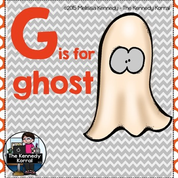 Letter G is for Ghost {Halloween}