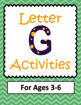 Letter G Activities- 46 Pages! {Common Core}