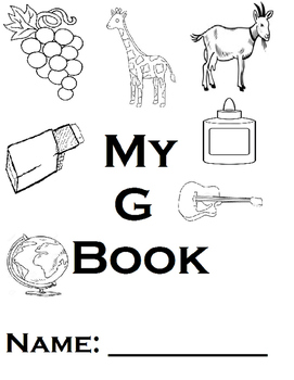 Letter G Printable Book and Homework (Autism, Handwriting,