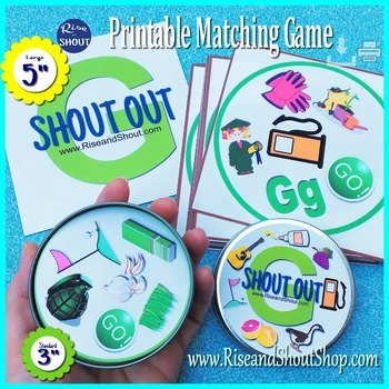 Letter G Sound MATCHING GAME Shout Out - 31 cards and imag